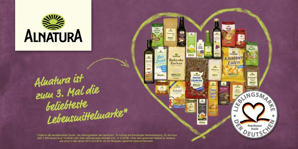 Alnatura -beliebteste Lebensmittelmarke