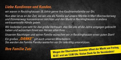 Abschied in Recklinghausen